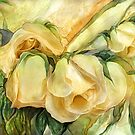 Miracle Of A Rose Bud - Yellow by Carol  Cavalaris