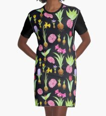 Spring Bulbs and Brains  Graphic T-Shirt Dress