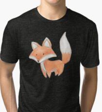Cute Little Fox Painting Tri-blend T-Shirt