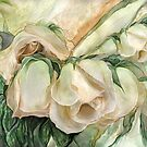 Miracle Of A Rose Bud - Antique White by Carol  Cavalaris