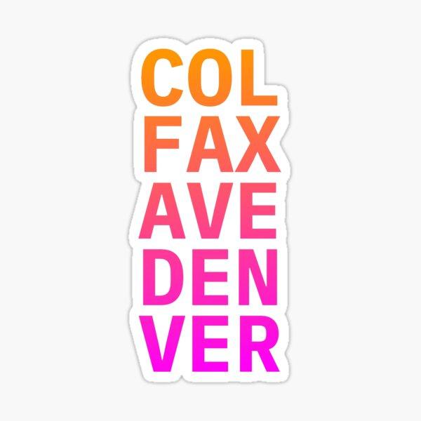 COL FAX AVE DEN VER Orange pink Sticker