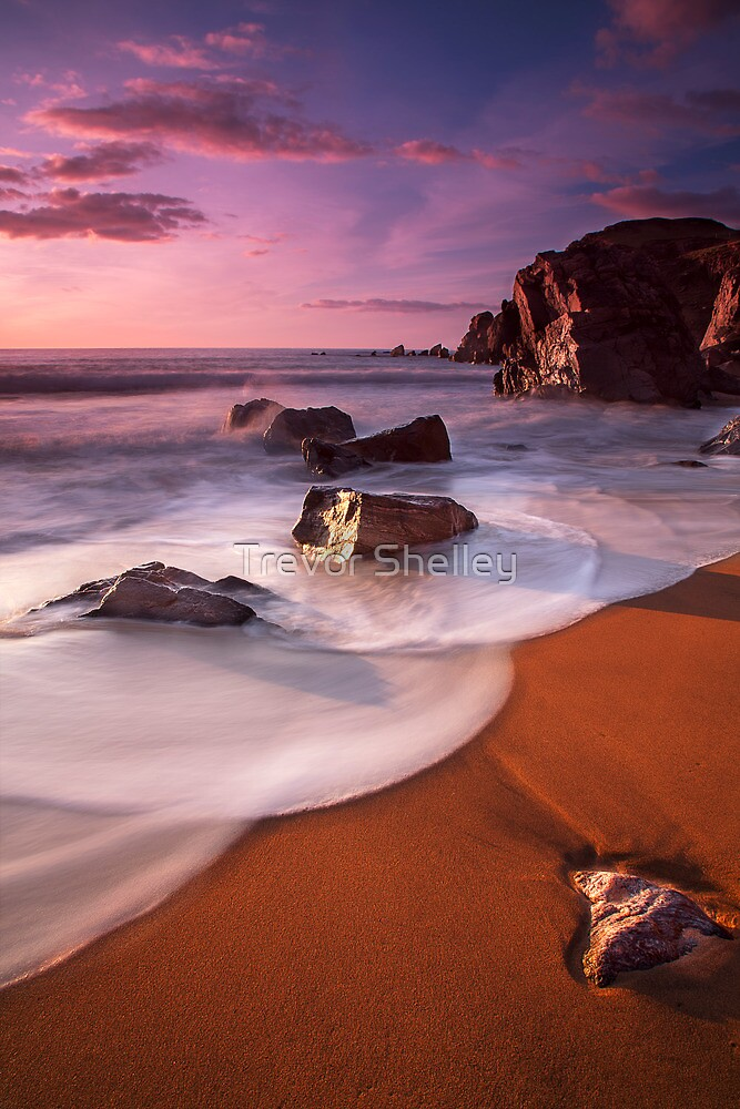 Dalmore Beach - Scalloped Waves by Trevor Shelley