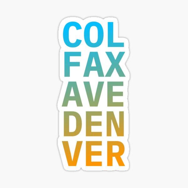 COL FAX AVE DEN VER blue orange Sticker