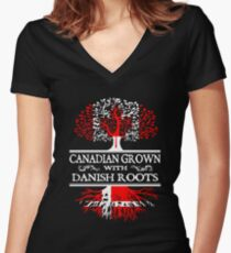 Danish - Canadian Grown With Danish Roots Women's Fitted V-Neck T-Shirt