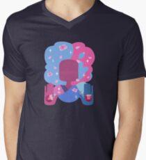 Garnet - Cotton Candy Pastel Mens V-Neck T-Shirt