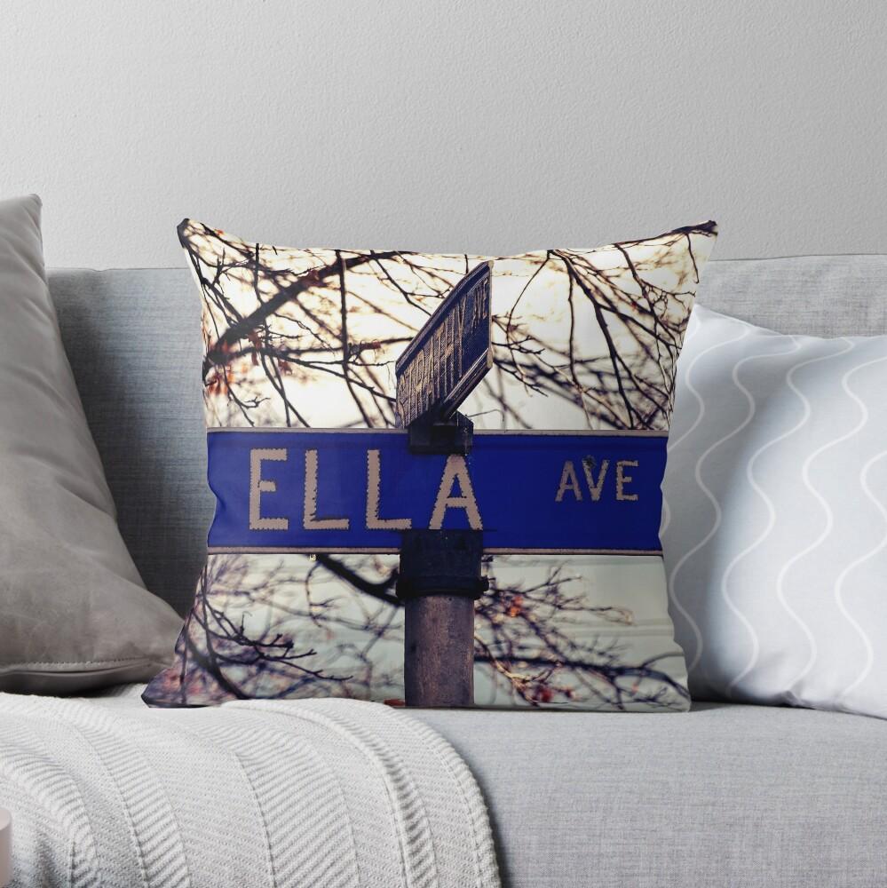 Ella, Ella sticker, Ella magnet, Ella greeting card, Ella mug Throw Pillow