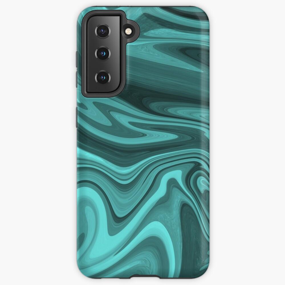 Teal Twirl Case & Skin for Samsung Galaxy