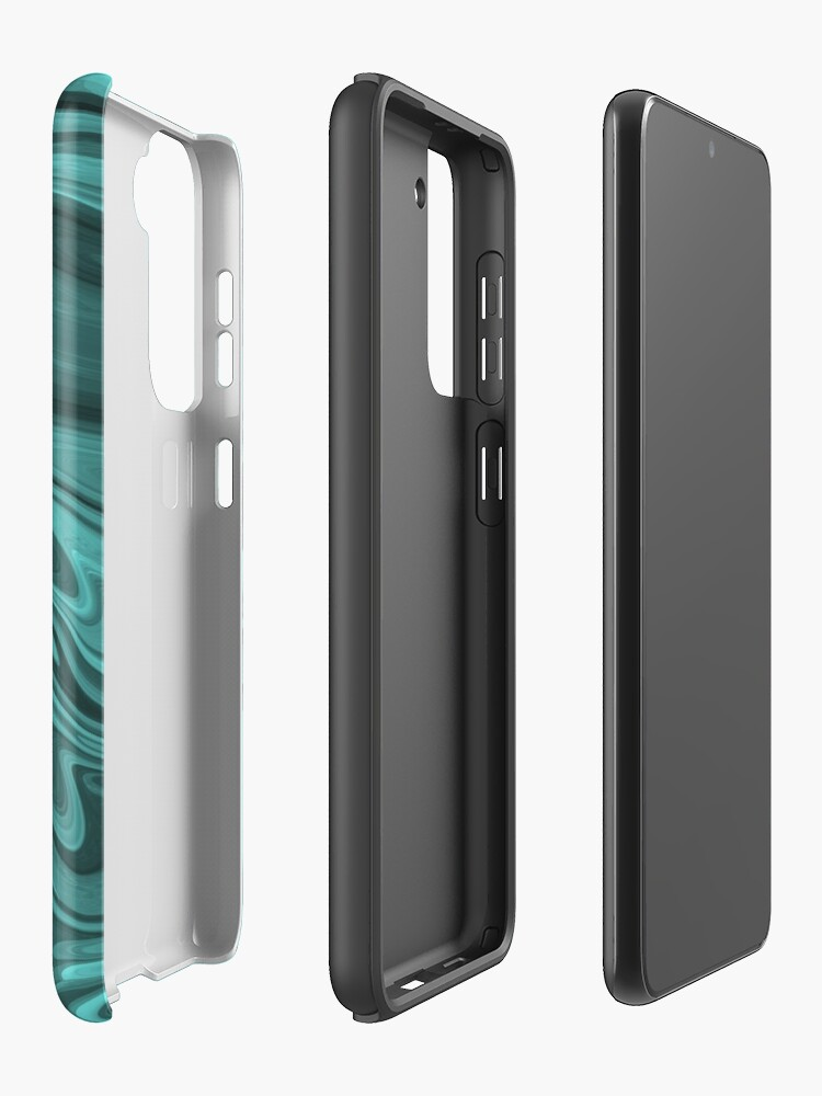 Alternate view of Teal Twirl Case & Skin for Samsung Galaxy