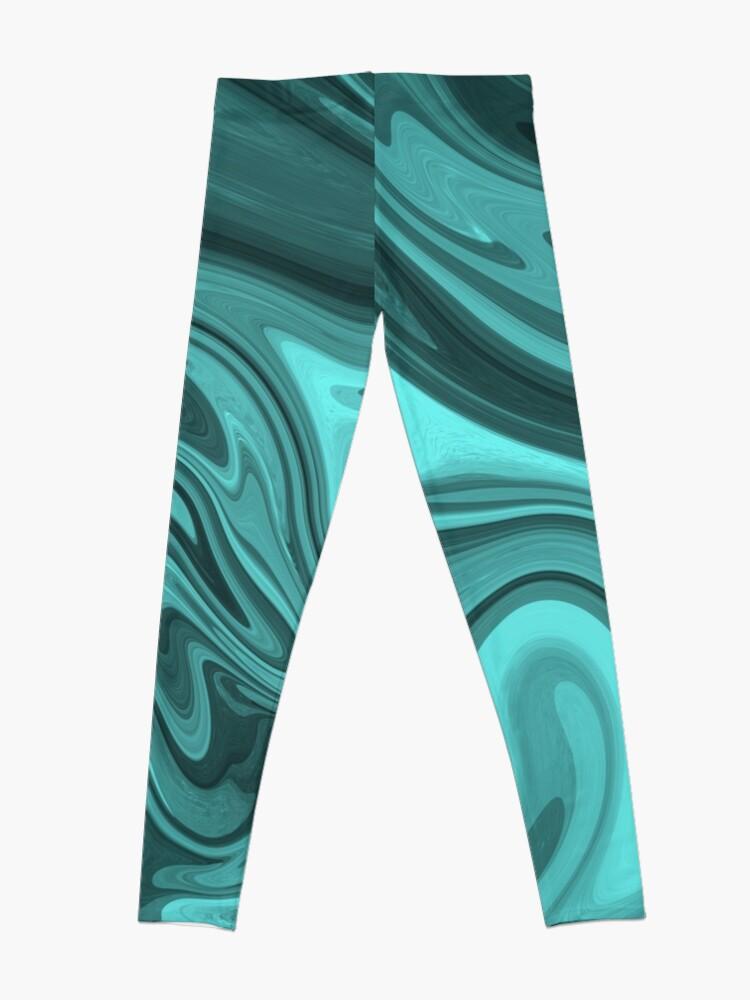 Alternate view of Teal Twirl Leggings