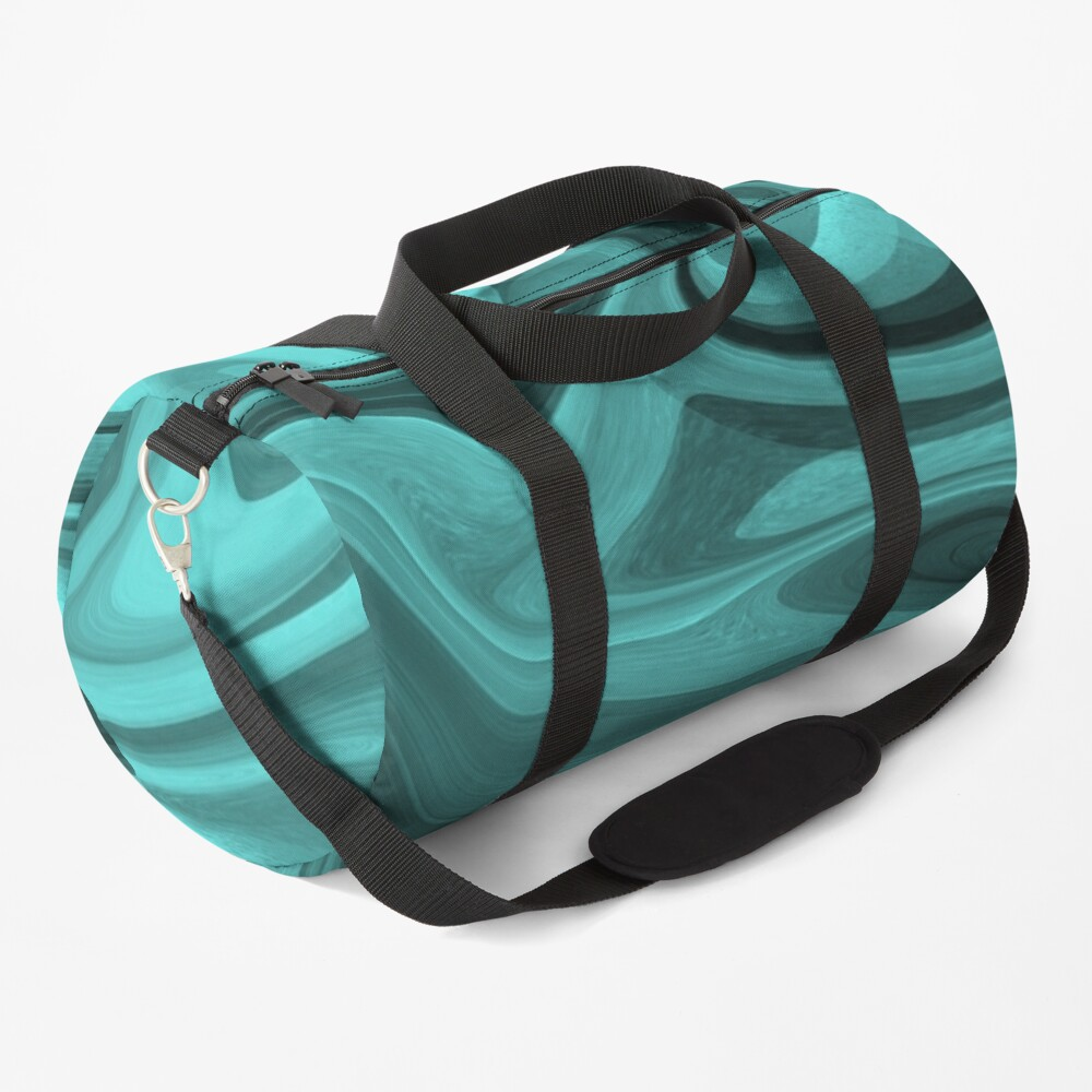 Teal Twirl Duffle Bag