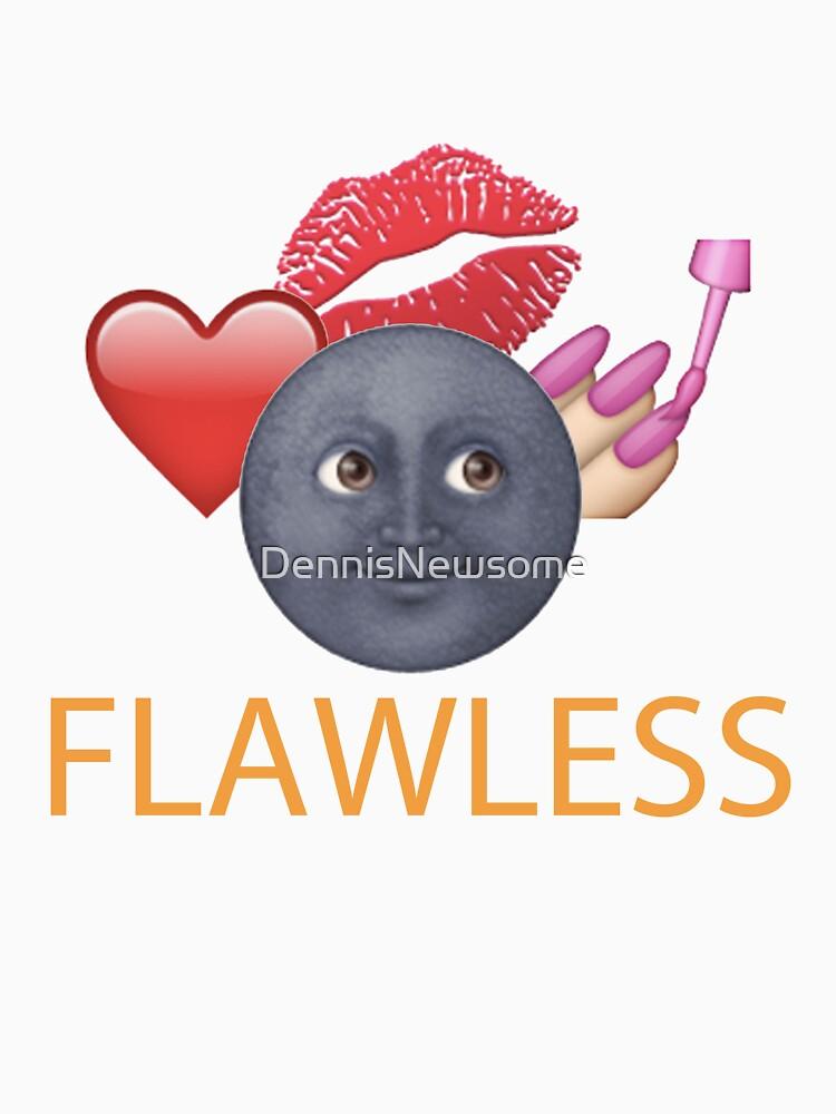 Flawless Emoji T Shirt by DennisNewsome