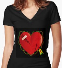 CUPIDS ARROW Women's Fitted V-Neck T-Shirt