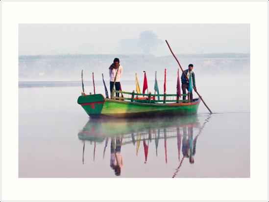Yamuna River boatmen. by DaveBassett