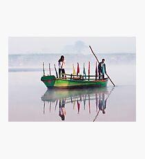 Yamuna River boatmen. Photographic Print