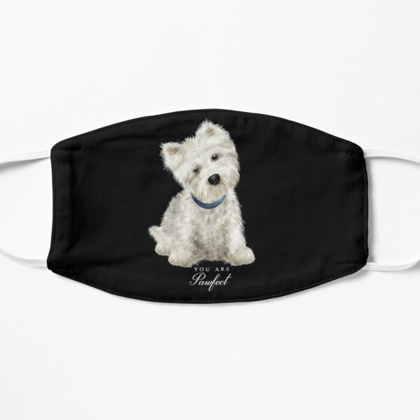 Pawfect lovely Westie Flat Mask