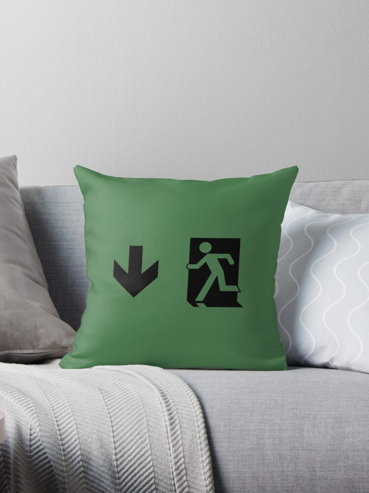Running Man Emergency Exit Sign, Left Hand Down Arrow by Egress Group Pty Ltd