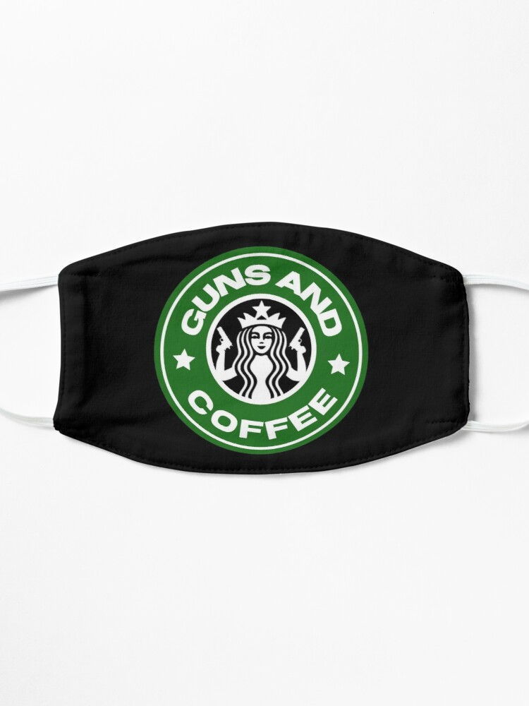 Alternate view of Guns and coffee Mask