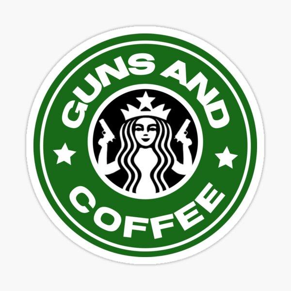 Guns and coffee Sticker