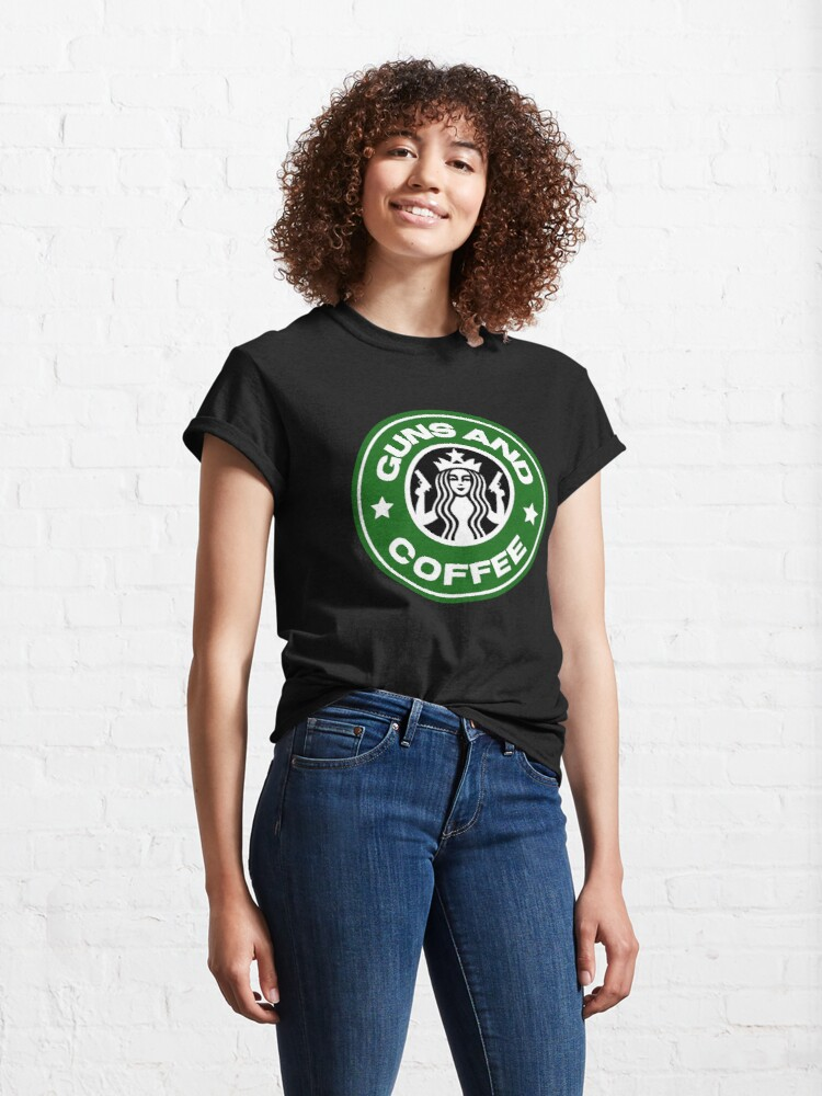 Alternate view of Guns and coffee Classic T-Shirt