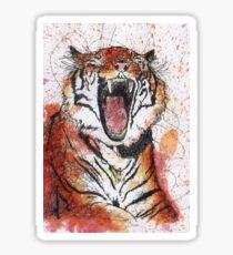 Scribble Ink Tiger Sticker