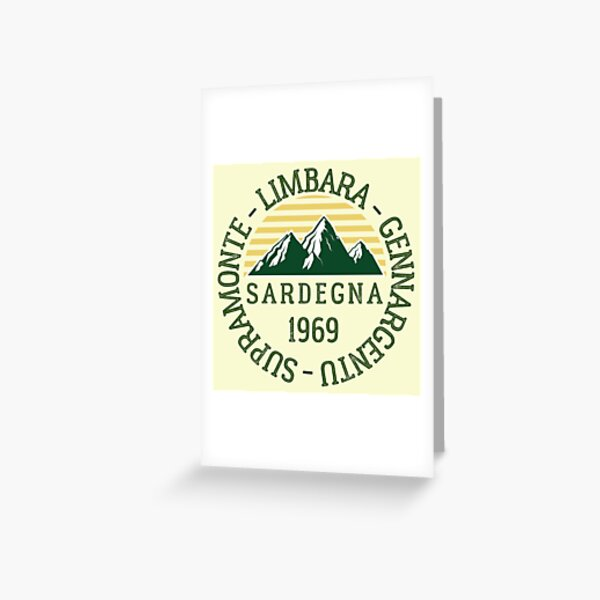 Mountain Ranges Sardinia, Italy Greeting Card