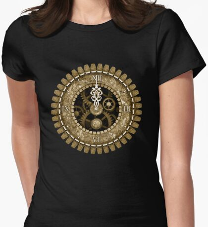 Steampunk Vintage Clock Face in Sepia T-Shirt