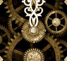 Steampunk Vintage Clock Face in Sepia Sticker