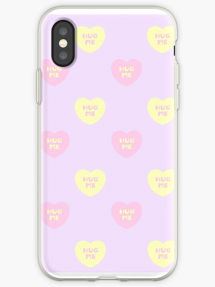 Hug Me Pixel Heart Phone Case by swagdra