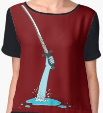Excalibur and the Lady of the Puddle Women's Chiffon Top