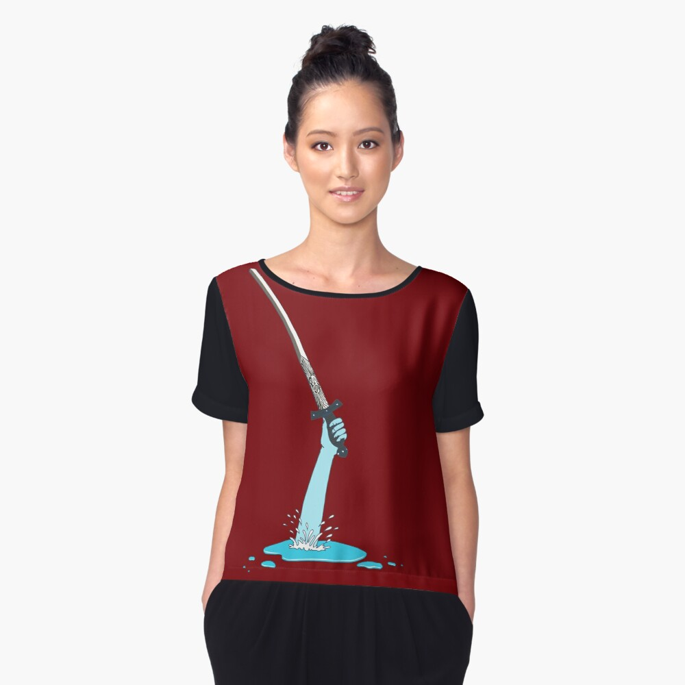 Excalibur and the Lady of the Puddle Women's Chiffon Top Front