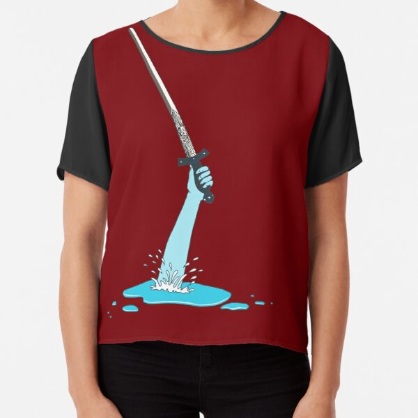 Excalibur and the Lady of the Puddle Chiffon Top