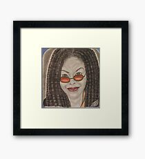 an American comedian, actress, singer,writer, and television host Framed Print