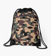 Woodland Camouflage Drawstring Bag