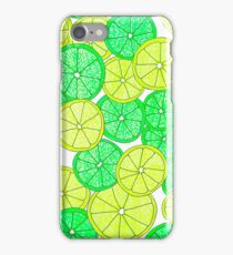 Lemon and Lime Pattern iPhone Case/Skin