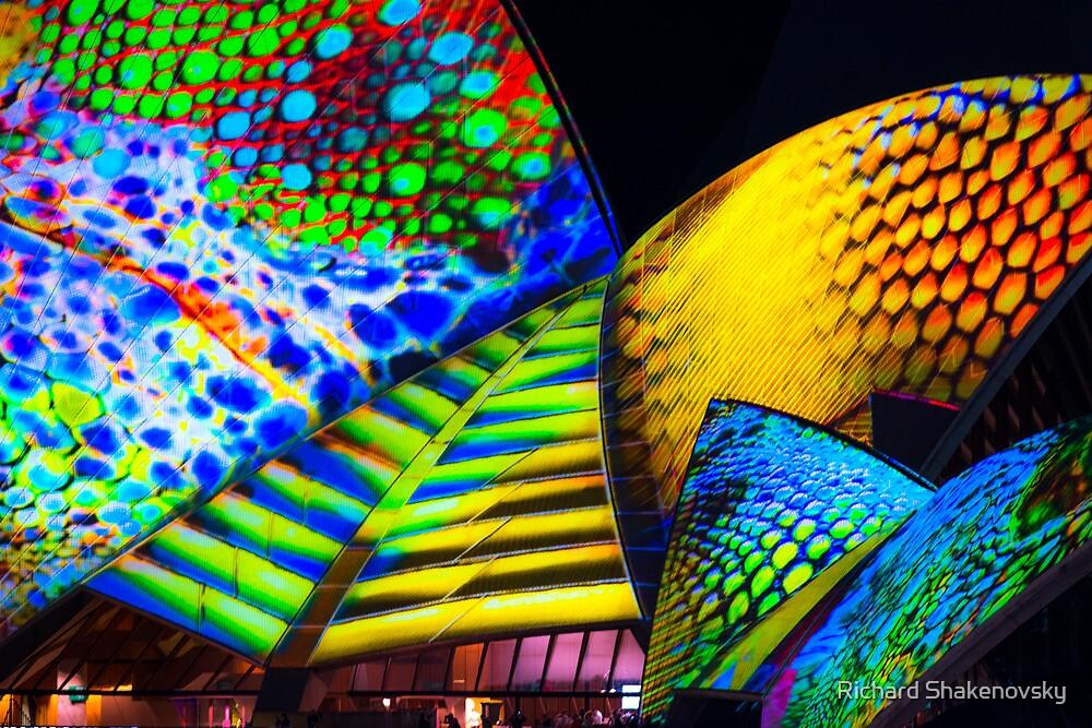 Opera House in Colour by Richard Shakenovsky