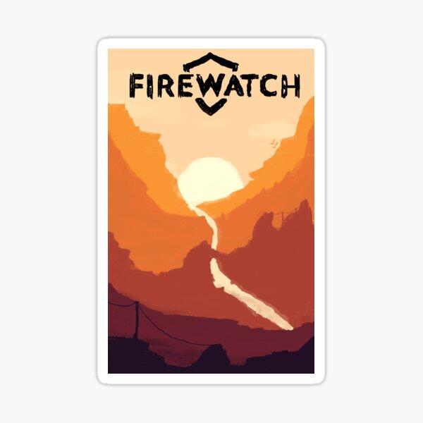 Firewatch horizion with logo Sticker