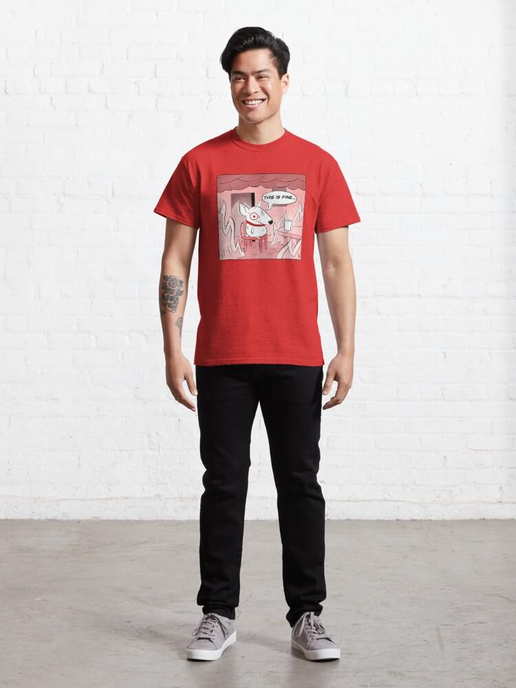 Alternate view of This Is Fine Bullseye Classic T-Shirt