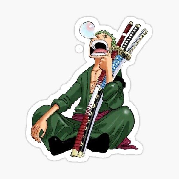 Zoro taking his 100th nap One Piece Sticker