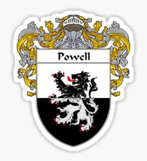 Powell Coat of Arms / Powell Family Crest Sticker