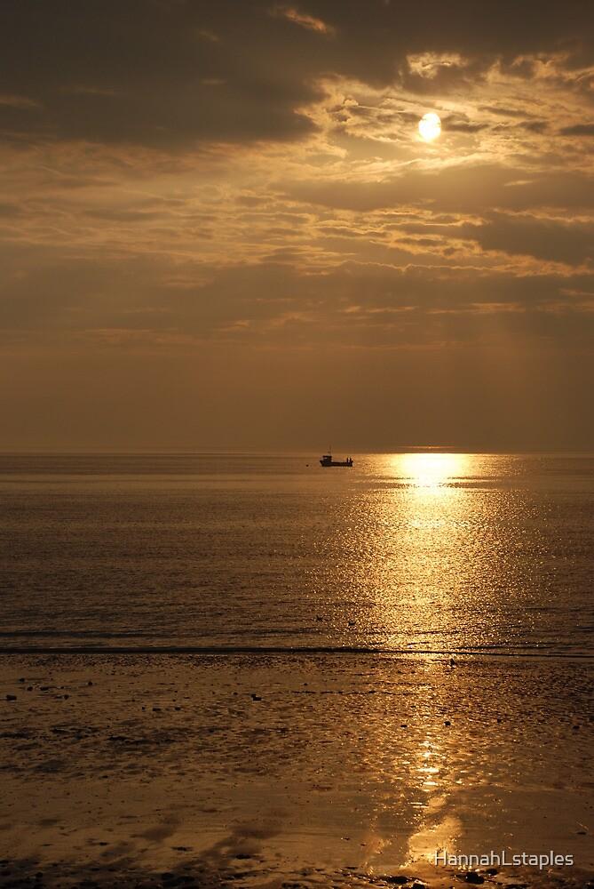 Hunstanton sunset on the Norfolk coast by HannahLstaples