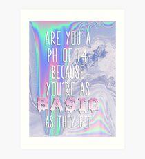 Basic AF Art Print