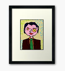 The Angry Business Man. Framed Print