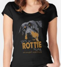 Rottweiler - It's A Rottie Thing You Wouldn't Understand Women's Fitted Scoop T-Shirt