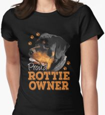 Rottweiler - Proud Rottie Owner Women's Fitted T-Shirt