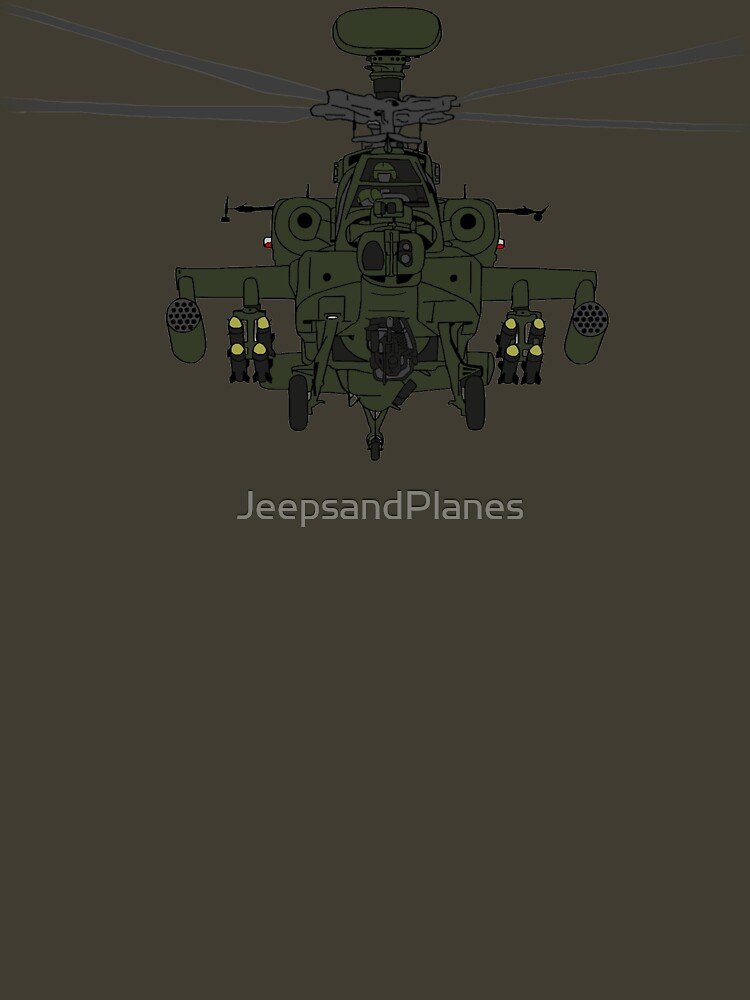 AH-64D Apache Helicopter shirt by JeepsandPlanes