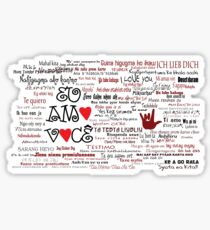 I love you in over 100 different languages! Sticker