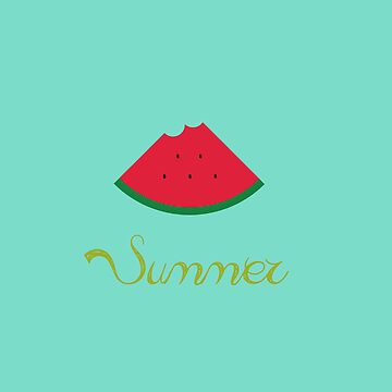 Summer means watermelon, watermelon means summer. by seingalad