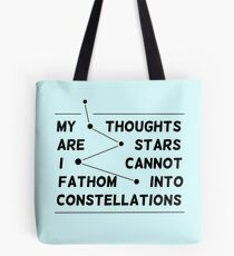 """""""my thoughts are """"  quote Tote Bag"""