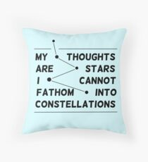 """my thoughts are ""  quote Throw Pillow"
