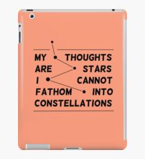 """my thoughts are ""  quote salmon iPad Case/Skin"
